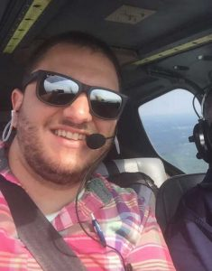 Wearing my QT Halos on a recent instructional flight.