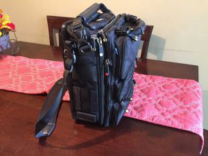 """The BrightLine B4 config -- this is a """"normal"""" sized setup. I'm still missing the side pocket accessories."""