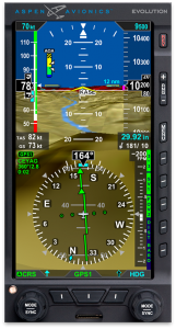 Pro Plus PFD with Synthetic Vision and Angle of Attack. Image courtesy of Aspen Avionics.