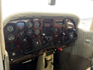 Our C182's old panel -- well equipped, but dated.